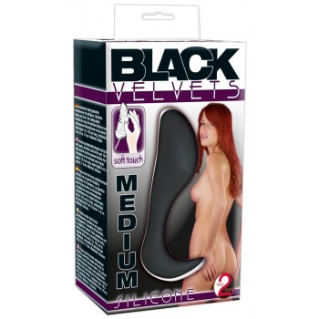 Black Velvet Silicone Butt Plug Medium