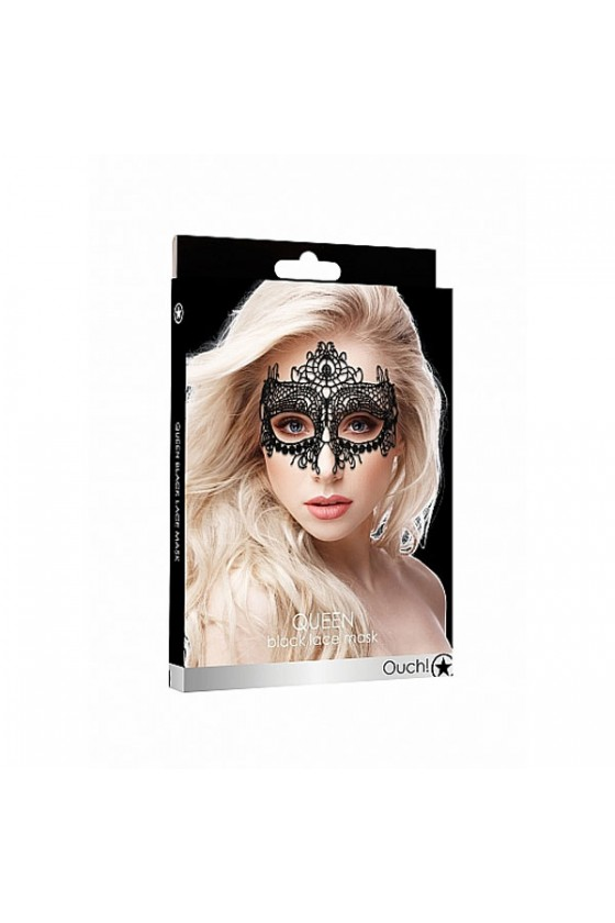 Maschera in pizzo modello Queen black